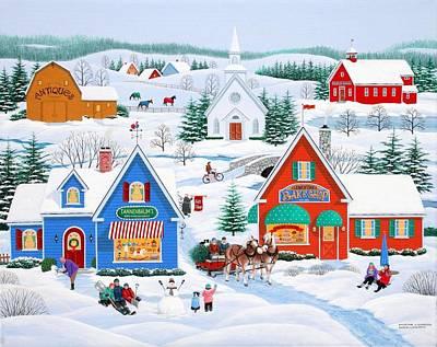 Wintertime In Sugarcreek Poster