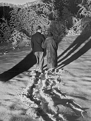 Wintertime Moonlight Stroll Poster