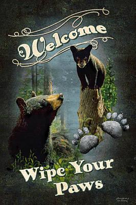 Wipe Your Paws Poster by JQ Licensing