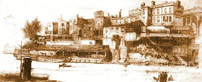 Wire Bridge Hotel 1880 Poster