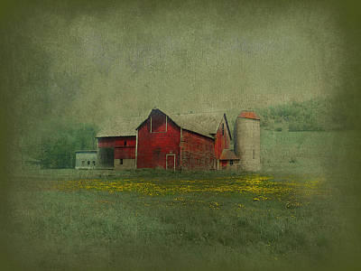 Wisconsin Barn In Spring Poster by Jeff Burgess