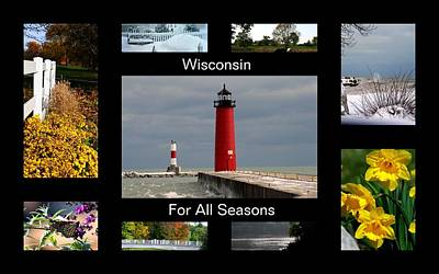 Poster featuring the photograph Wisconsin For All Seasons by Kay Novy