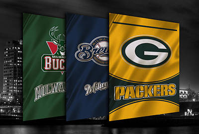 Wisconsin Sports Teams Poster by Joe Hamilton