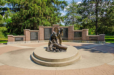Poster featuring the photograph Wisconsin State Firefighters Memorial 1 by Susan  McMenamin
