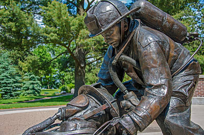 Poster featuring the photograph Wisconsin State Firefighters Memorial 4 by Susan  McMenamin