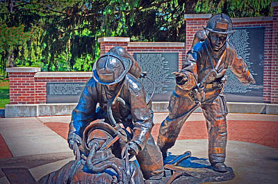 Poster featuring the photograph Wisconsin State Firefighters Memorial Park 2 by Susan  McMenamin