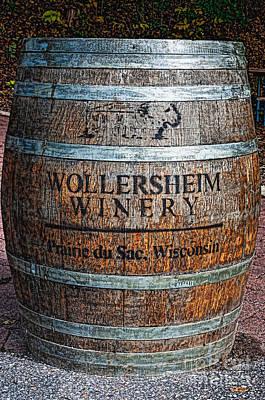 Wisconsin Wine Barrel Poster