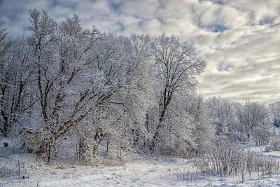 Wisconsin Winter Poster by Joan Carroll