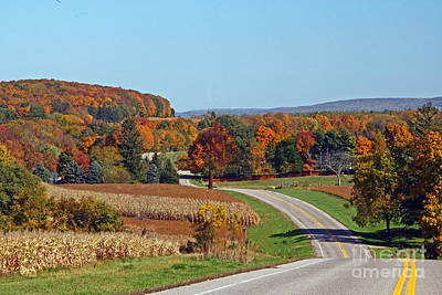 Wisconsin's Fall Color Poster by Joan McArthur