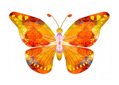Wisdom And Flight Abstract Butterfly Art By Omaste Witkowski Poster