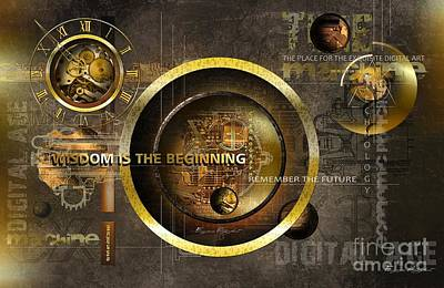 Wisdom Is The Beginning Poster by Franziskus Pfleghart