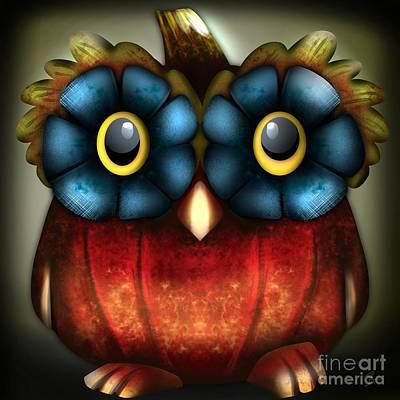 Wise Pumpkin Owl Poster