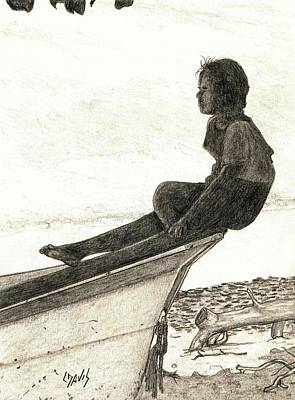 Wishful Sailing Poster by Lew Davis