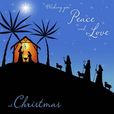 Wishing You Peace - Shepherds Poster by P.s. Art Studios