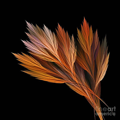 Wispy Tones Of Autumn Poster by Kaye Menner