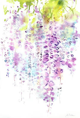 Wisteria Watercolor Version Poster by Sumiyo Toribe