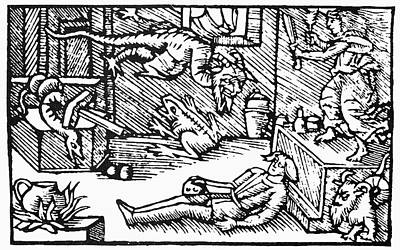 Witch And Demons, 1555 Poster