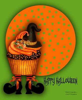 Witch Cupcake 2  Poster by Carol Cavalaris