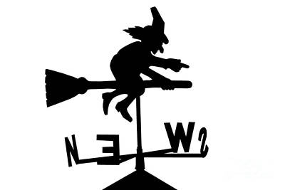 Witch On A Broomstick Poster by Simon Bratt Photography LRPS