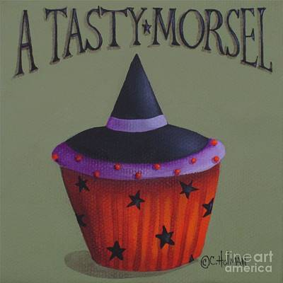 Witches Hat Tasty Morsel Cupcake Poster by Catherine Holman