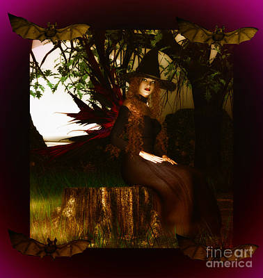Witchy Woman Poster by Eva Thomas