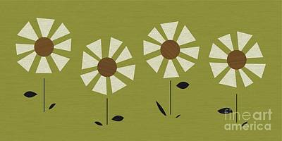 Witco Daisies Poster by Donna Mibus