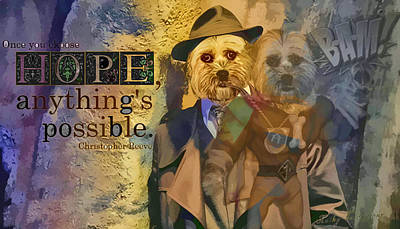 Poster featuring the digital art With Hope Anything Is Possible 5 by Kathy Tarochione