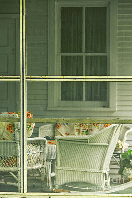 Within The Screened Porch Poster by Margie Hurwich