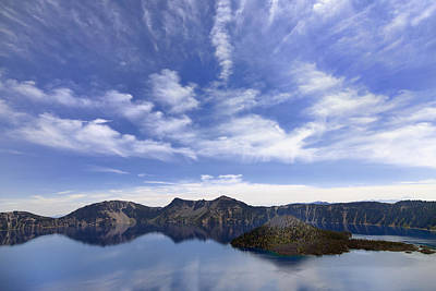 Wizard Island And Crater Lake Poster