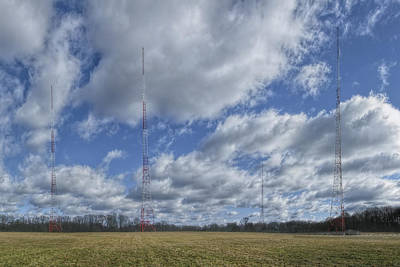 Wmal Tower Clouds Poster