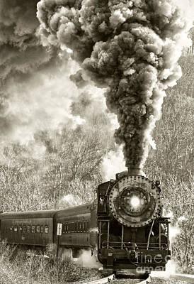 Wmsr Steam Engine 734 Poster