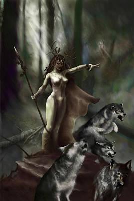 Wolf Druid Poster by Matt Kedzierski