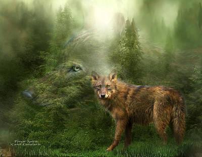 Wolf - Forest Spirit Poster