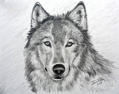 Wolf Poster by Julie Brugh Riffey