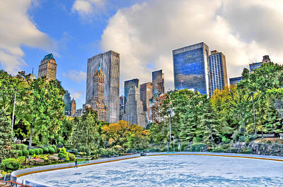 Wollman Rink In Central Park Poster