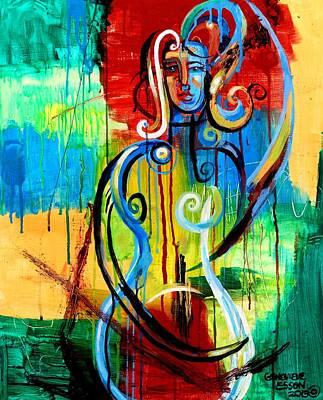 Woman Bass Poster