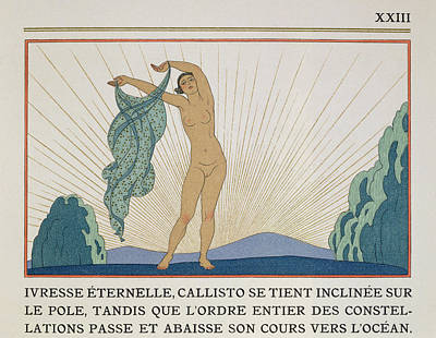 Woman Dancing Poster by Georges Barbier