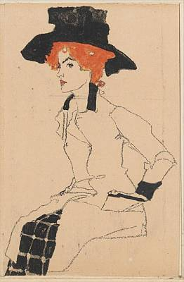 Woman Drawing Poster by Celestial Images