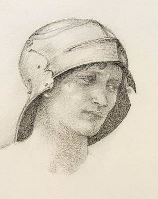 Woman In Hat, Detail From A Sketchbook Poster