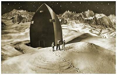 Woman In The Moon Poster by Detlev Van Ravenswaay