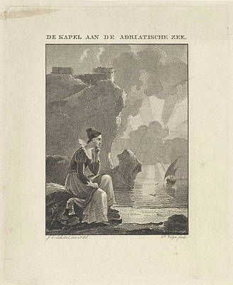 Woman Looking Out Over The Sea, Philippus Vellum Poster
