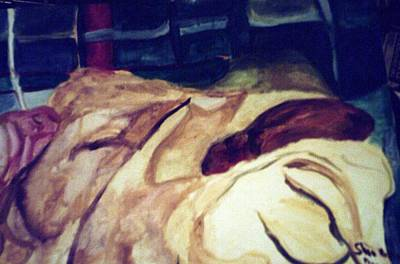 Woman Napping On A Couch  Poster