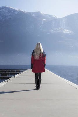 Woman On Jetty Poster by Joana Kruse