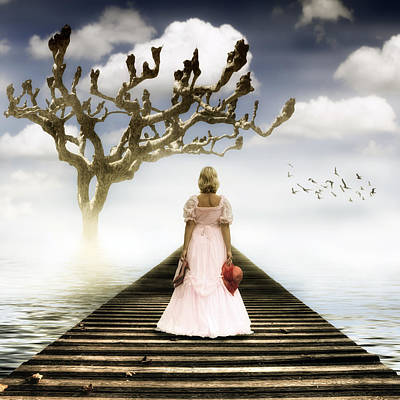 Woman On Pier Poster