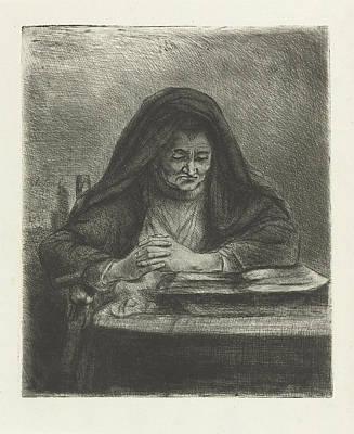 Woman Reading, Jan Chalon Poster by Jan Chalon