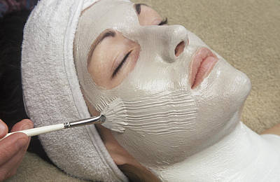 Woman Receiving A Spa Treatment Poster
