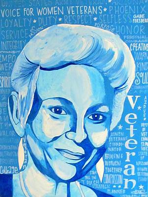Poster featuring the painting Woman Veteran Gabe by Michelle Dallocchio
