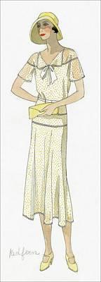 Woman Wearing A Dress By Redfern Poster by  David