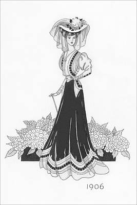 Woman Wearing A Sports Costume Poster by Claire Avery