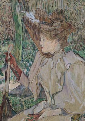 Woman With Gloves Poster by Henri de Toulouse-Lautrec